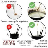 Most Wanted Brush Set | The Army Painter | Black Star Games | UK